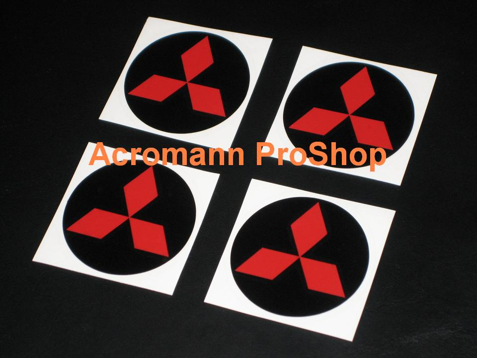 Mitsubishi 2.2inch Wheel Cap Decal (Style#1) x 4 pcs