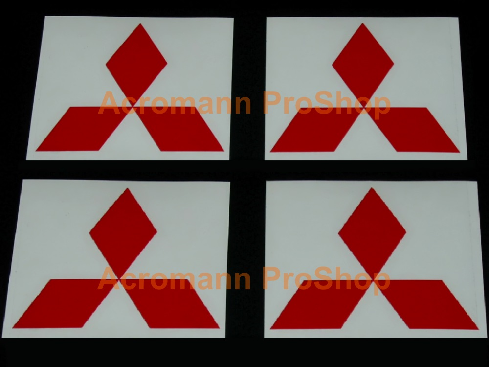 Mitsubishi 2.2inch Wheel Cap Decal (Style#2) x 4 pcs