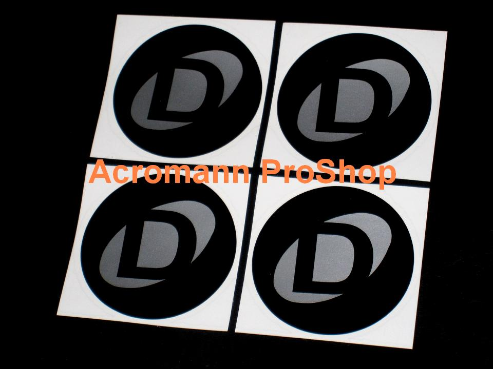 Dinan 2.2inch Wheel Cap Decal x 4 pcs