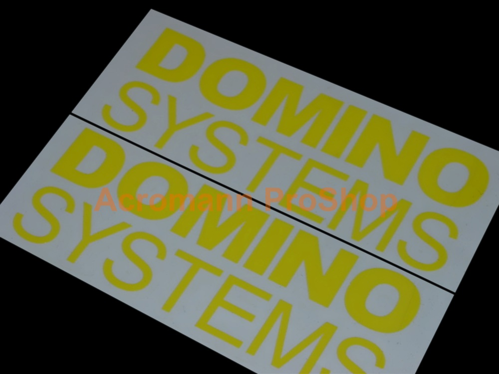 Domino Systems (SWRT) 6inch Decal (Style#1) x 2 pcs