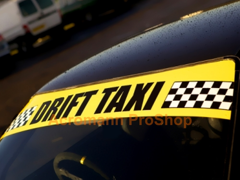 Drift Taxi Windshield Decal (Style#1)