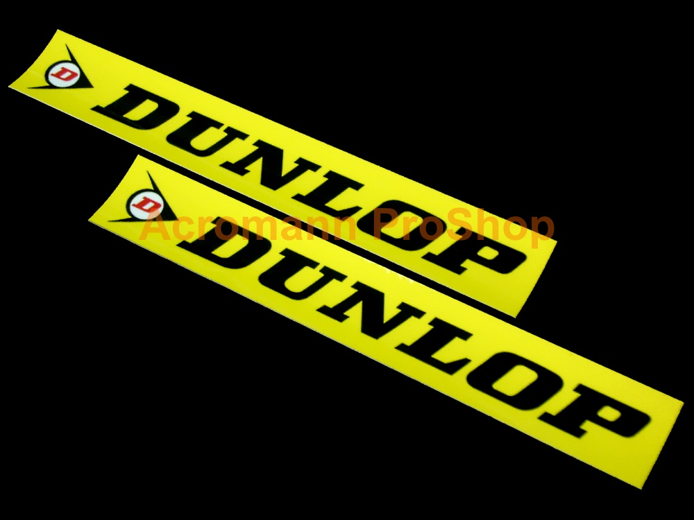 DUNLOP 6inch Decal (Style#4) x 2 pcs