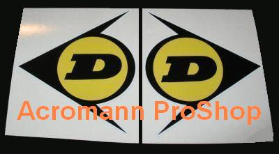 DUNLOP 4inch Decal (Style#6) x 2 pcs