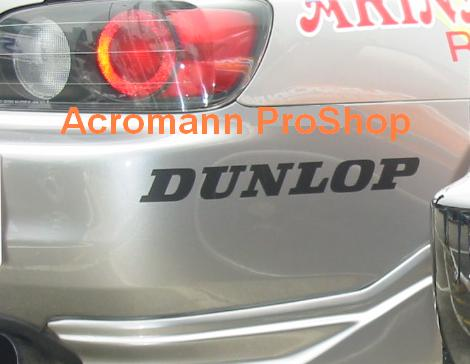 DUNLOP 6inch Decal (Style#3) x 2 pcs