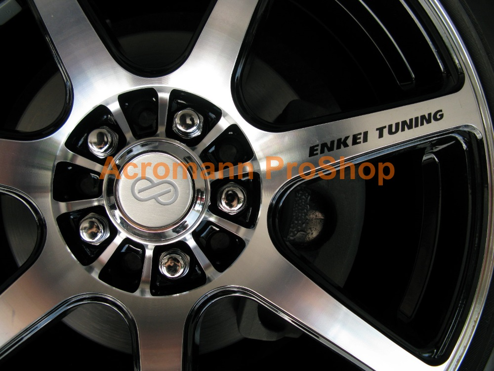 ENKEI Tuning 4inch Alloy Wheel Decal x 4 pcs