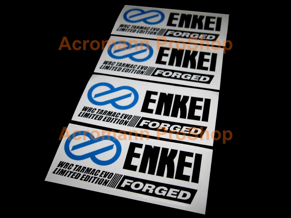 ENKEI WRC Tarmac Evo Limited Forged 4inch Wheel Decal x 4pcs