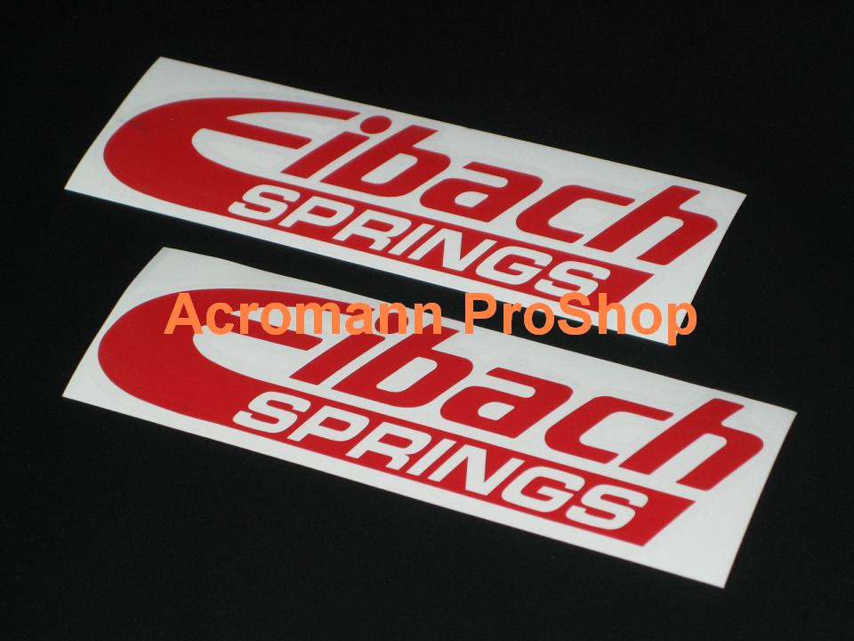 Eibach SPRINGS 6inch Decal (Style#1) x 2 pcs