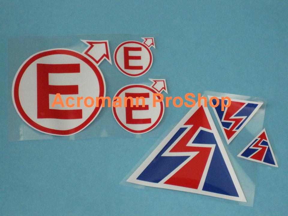 Emergency Electric Engine Stop/Starter Alert Printed Decal Set