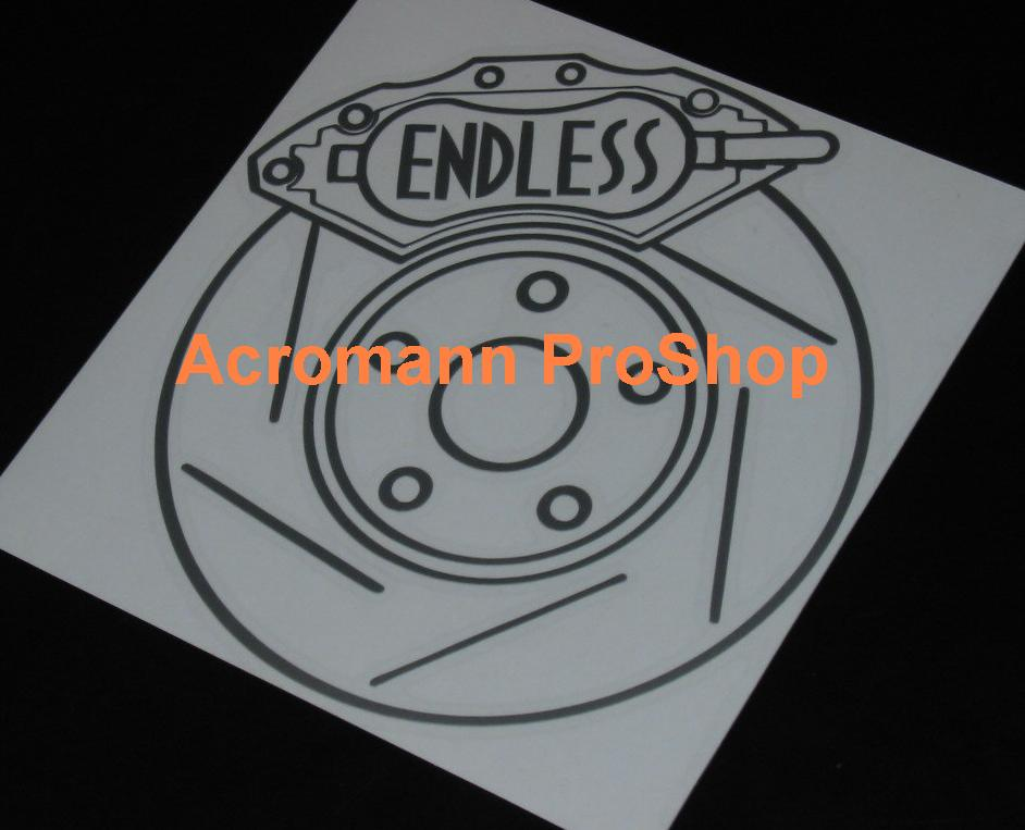 ENDLESS Brake 6inch Decal x 2 pcs