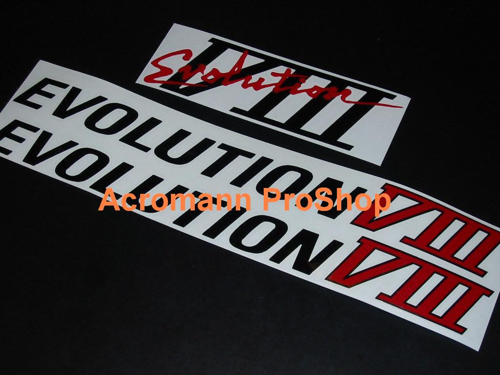 Mitsubishi Evolution VIII (8) Decal Set (a set of 3pcs)