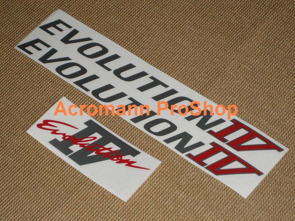 Mitsubishi Evolution IV (4) Decal Set (a set of 3pcs)