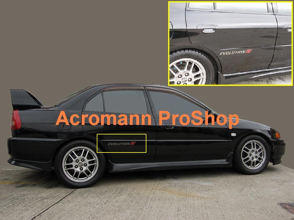 Mitsubishi Rim WheelVinyl Decal Sticker 4 PackEclipse Lancer Galant Evo