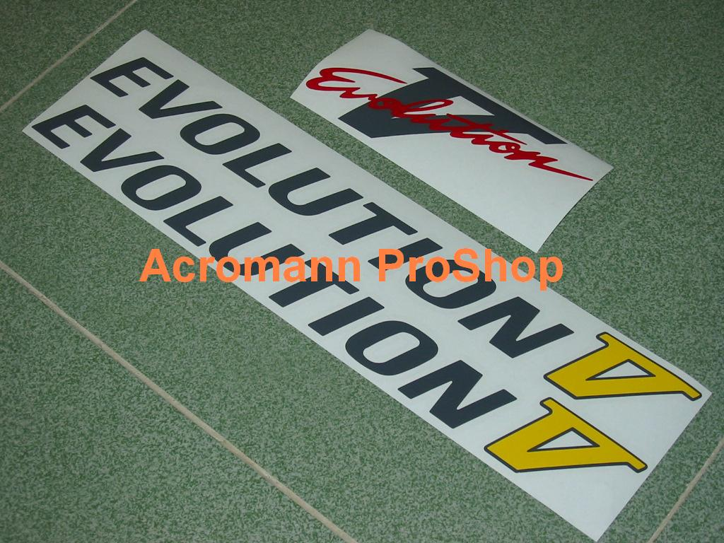 Mitsubishi Evolution V (5) Decal Set (a set of 3pcs)