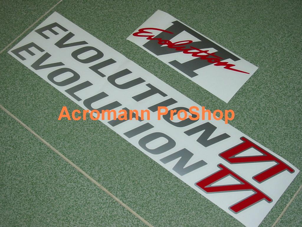 Mitsubishi Evolution VI (6) Decal Set (a set of 3pcs)