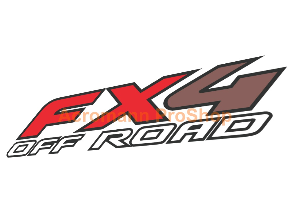 Ford FX4 OFF ROAD 17.5inch Decal (Style#1) x 2 pcs
