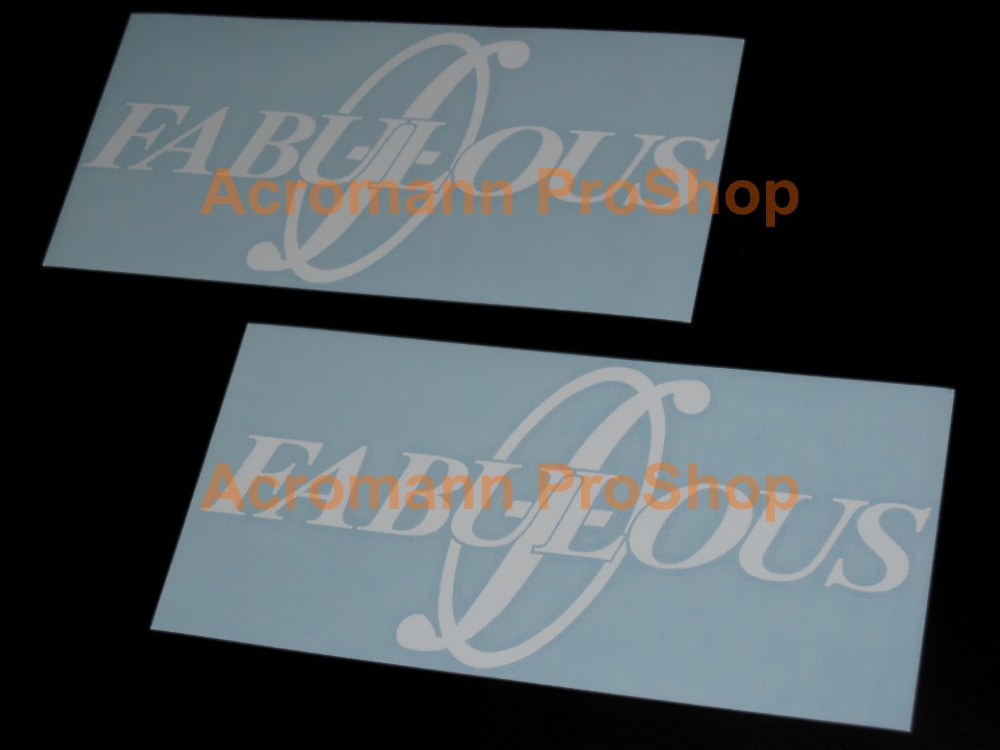 Fabulous 6inch Decal (Style#2) x 2 pcs