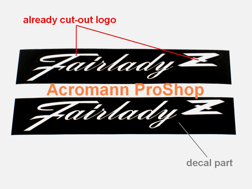 Fairlady Z 6inch Stencil Masking Decal (Style#2) x 2 pcs