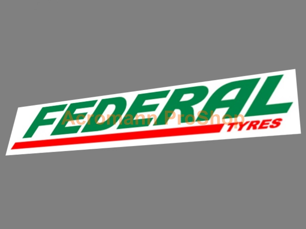 Federal Tyres Windshield Decal (Style#1)