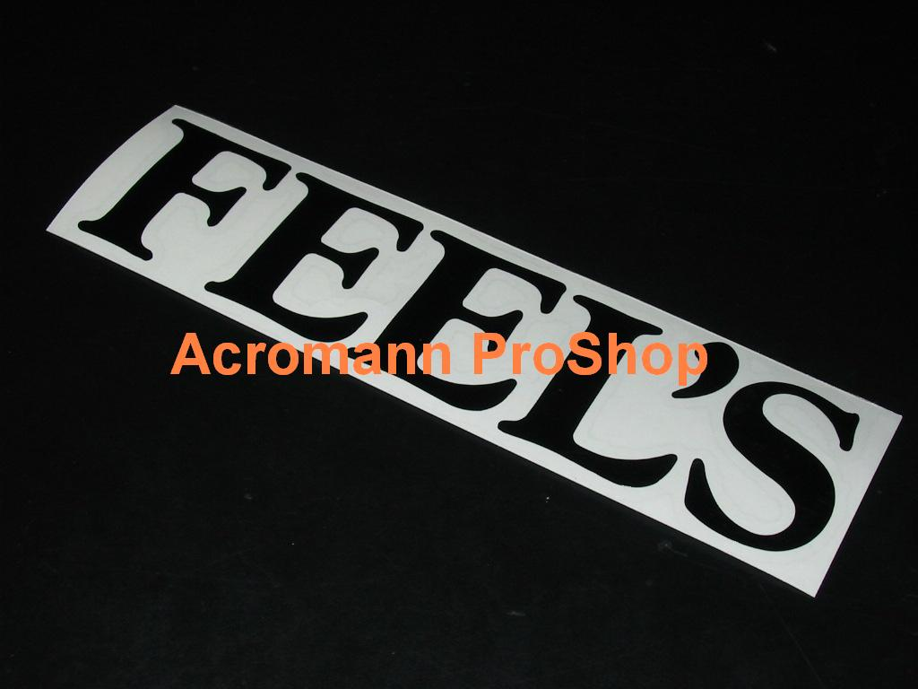 FEEL'S 6inch Decal x 2 pcs