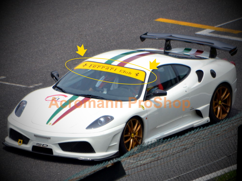 Ferrari Club Windshield Windscreen Sunstrip Banner Decal Sticker