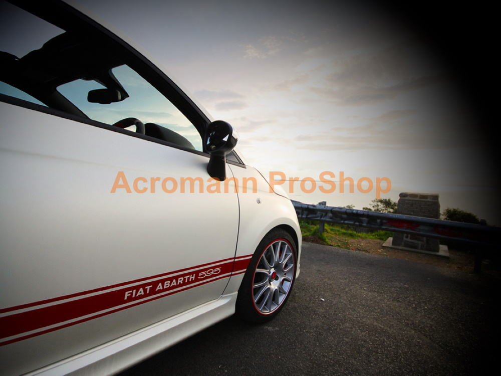 Fiat 500 595 Abarth 50th Anniversary Side Stripes Decals Sticker