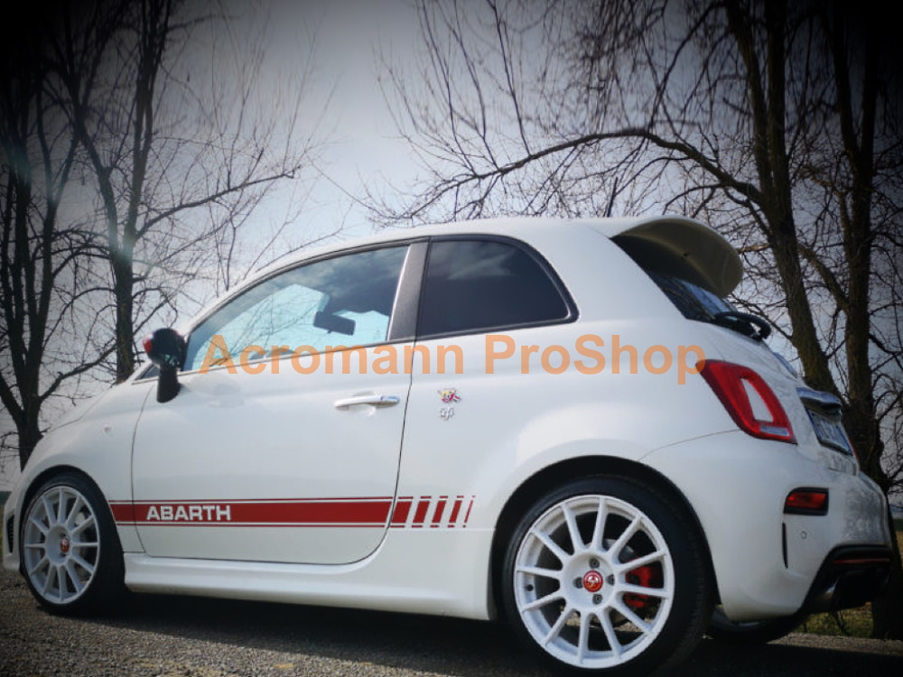 Fiat 500 595 Abarth Competizione Side Stripes Door Decal Sticker