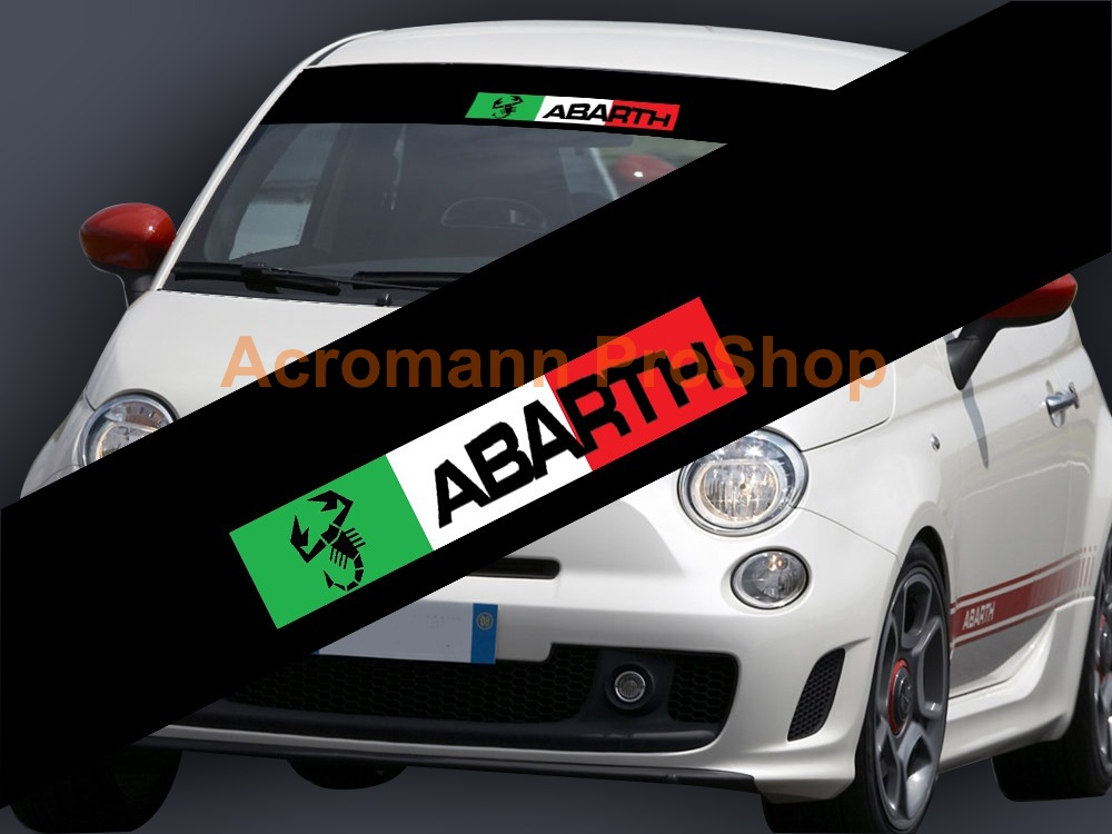 Fiat ABARTH Windshield Decal (Style#5)