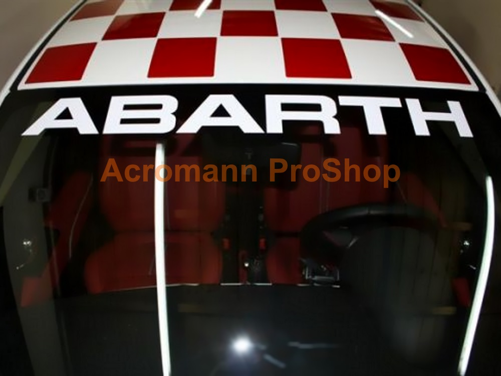 Fiat ABARTH Windshield Decal (Style#8)