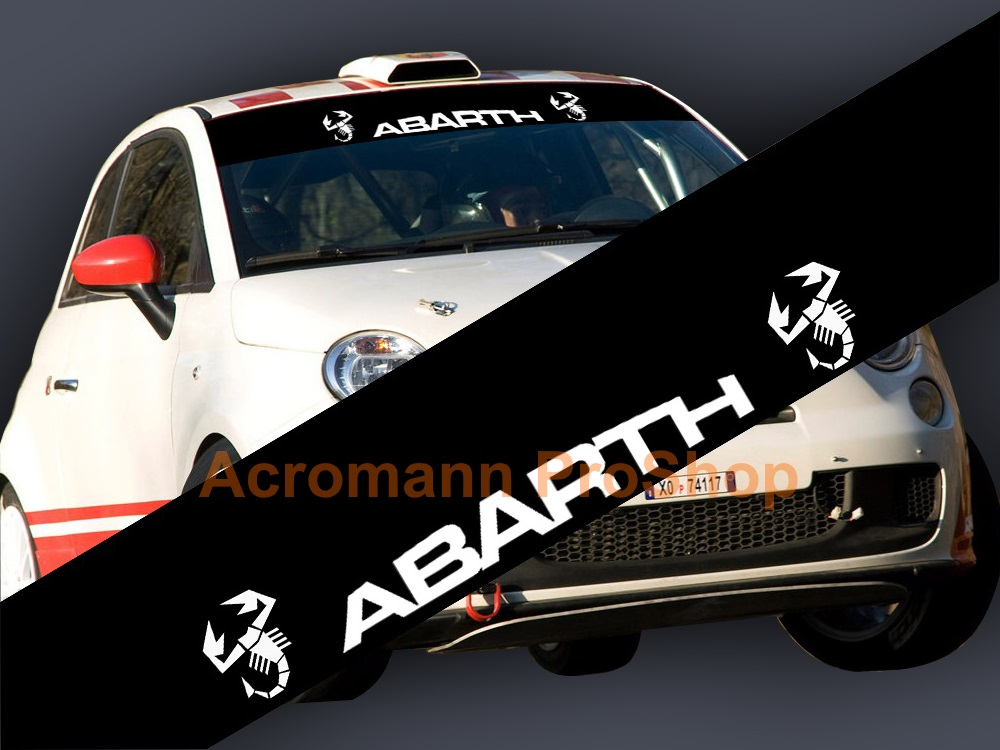 Fiat ABARTH Windshield Decal (Style#6)