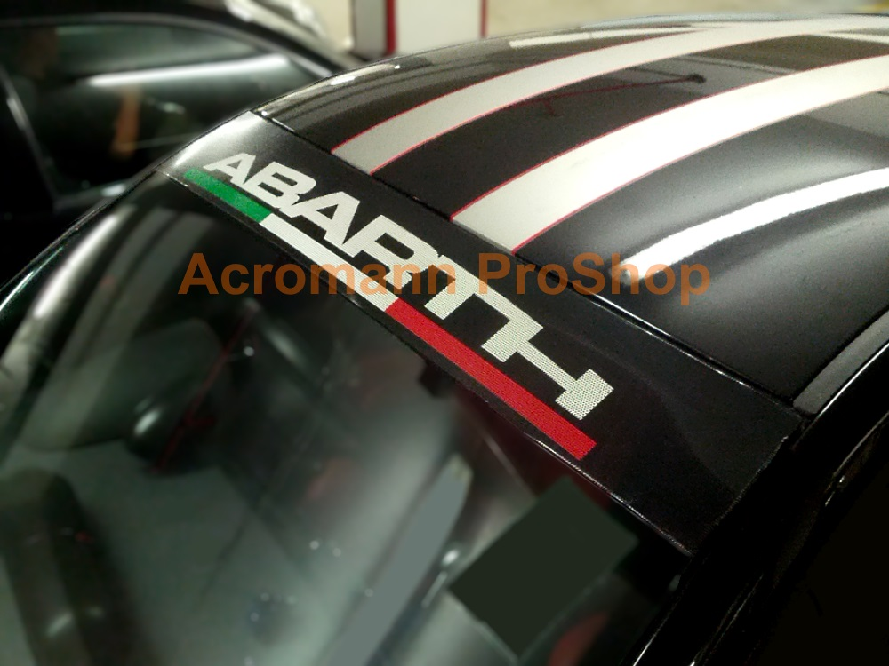 Fiat ABARTH dot-visor outside-type Windshield Decal