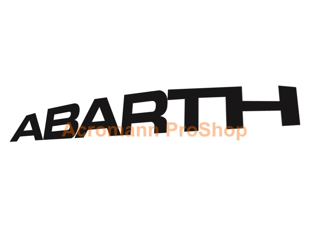 Fiat ABARTH 6inch Decal (Style#4) x 2 pcs