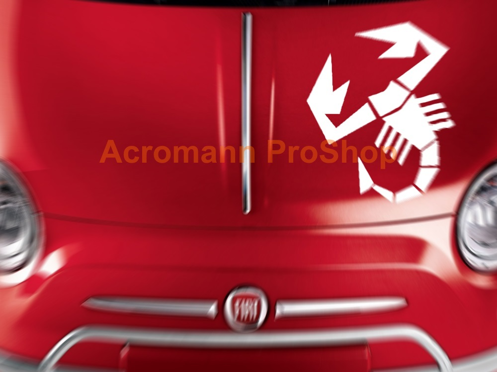 Fiat Abarth Bonnet Decal x 1 pc