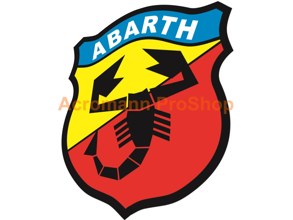 Fiat Abarth 3inch Decal (Style#1) x 2 pcs
