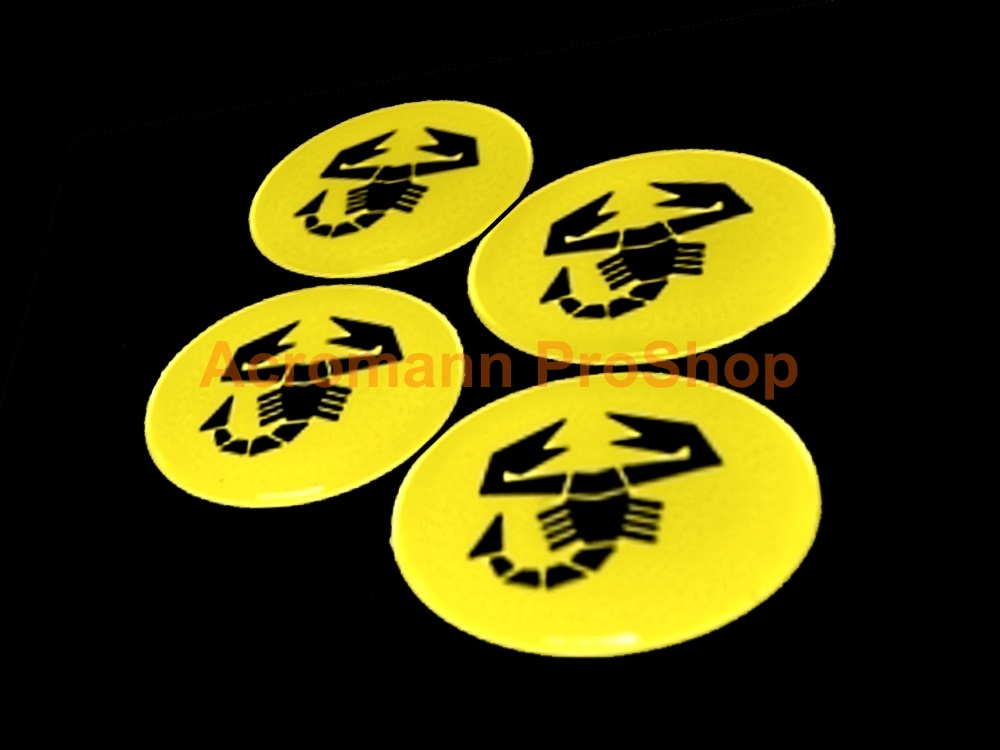 Fiat Abarth 2.2inch Wheel Cap Decal (Style#2) x 4 pcs