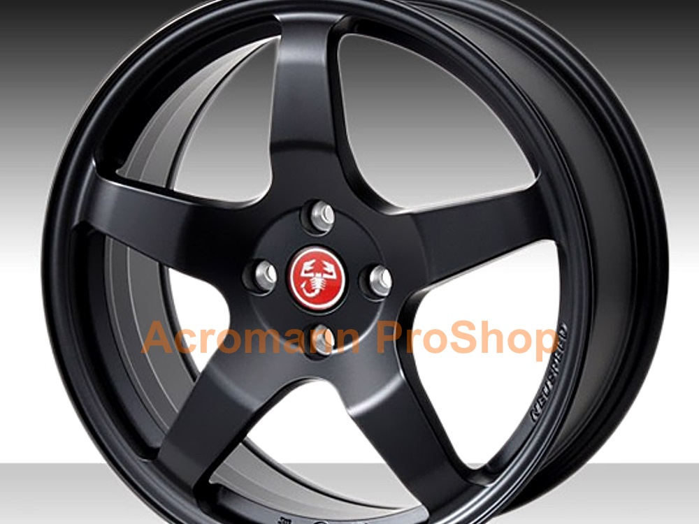 Fiat Abarth 2.2inch Wheel Cap Decal (Style#1) x 4 pcs