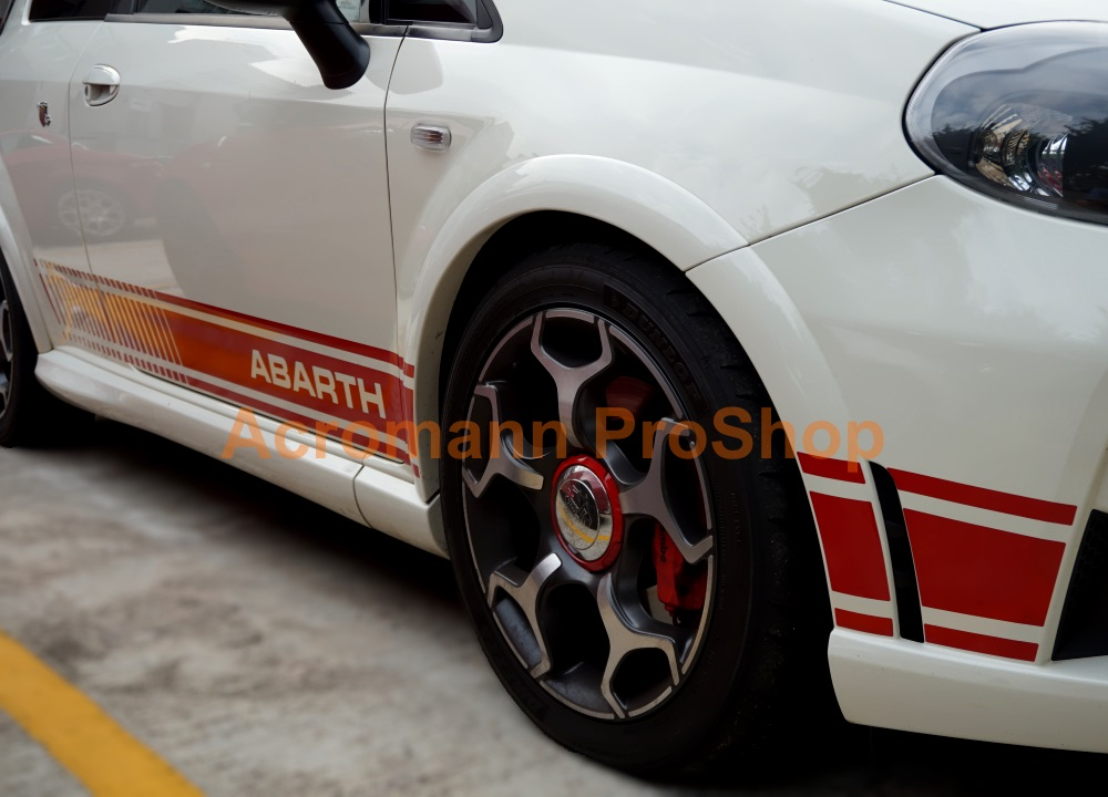 Fiat Punto Evo Abarth Side Stripe Door Decal x 1 pair