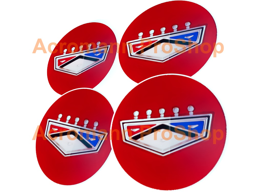Ford Classic Crown 2.2inch Wheels Cap Decal x 4 pcs