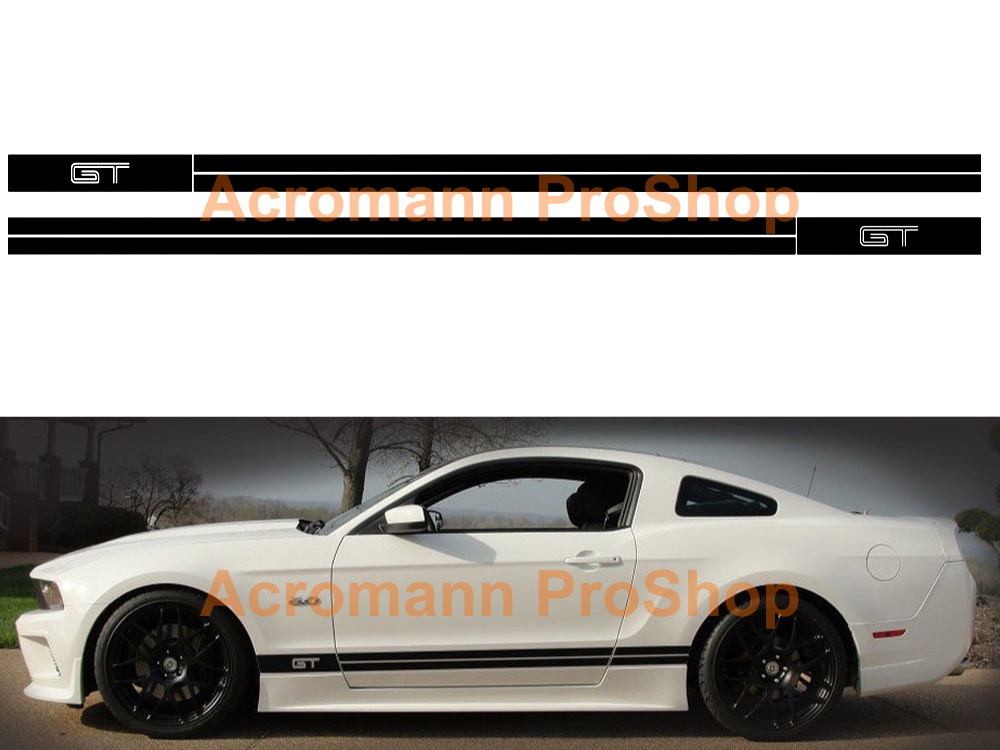Ford Mustang GT Shelby Side Stripe Door Decal (Style#11) x 1pair