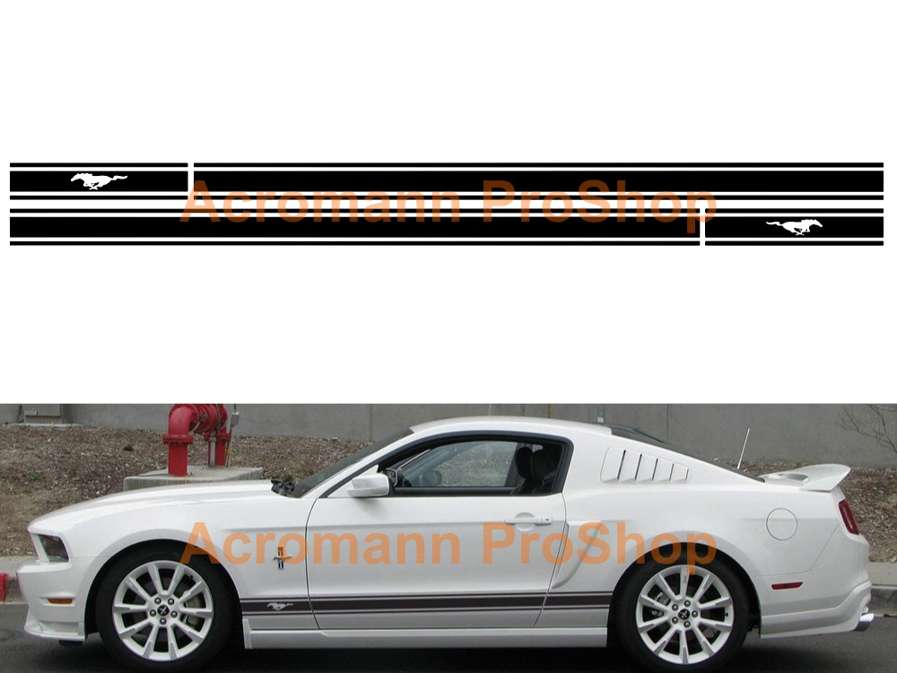 Ford Mustang Shelby Side Stripe Door Decal (Style#12) x 1 pair