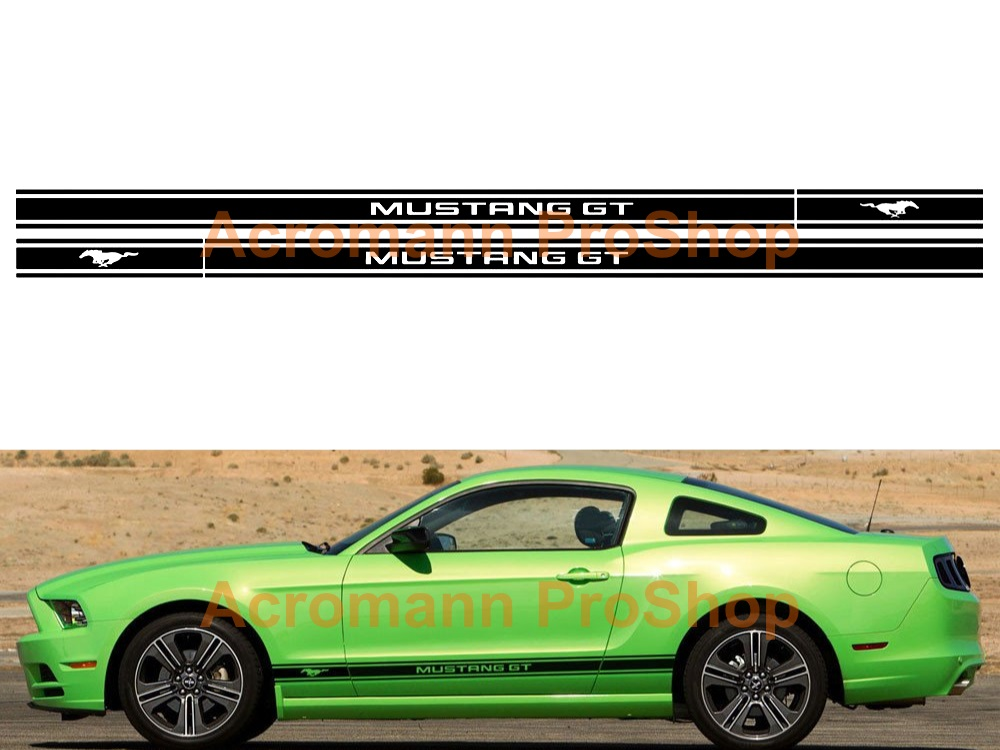 Ford Mustang GT Shelby Side Stripe Door Decal (Style#13) x 1pair