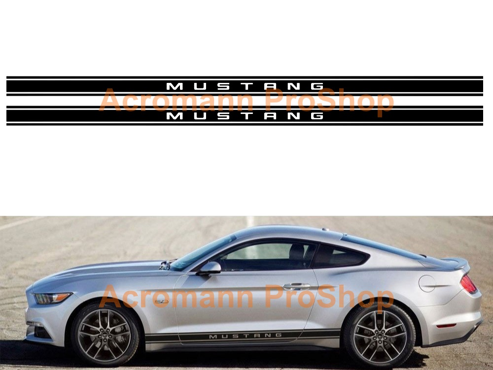 Ford Mustang Shelby Side Stripe Door Decal (Style#15) x 1 pair