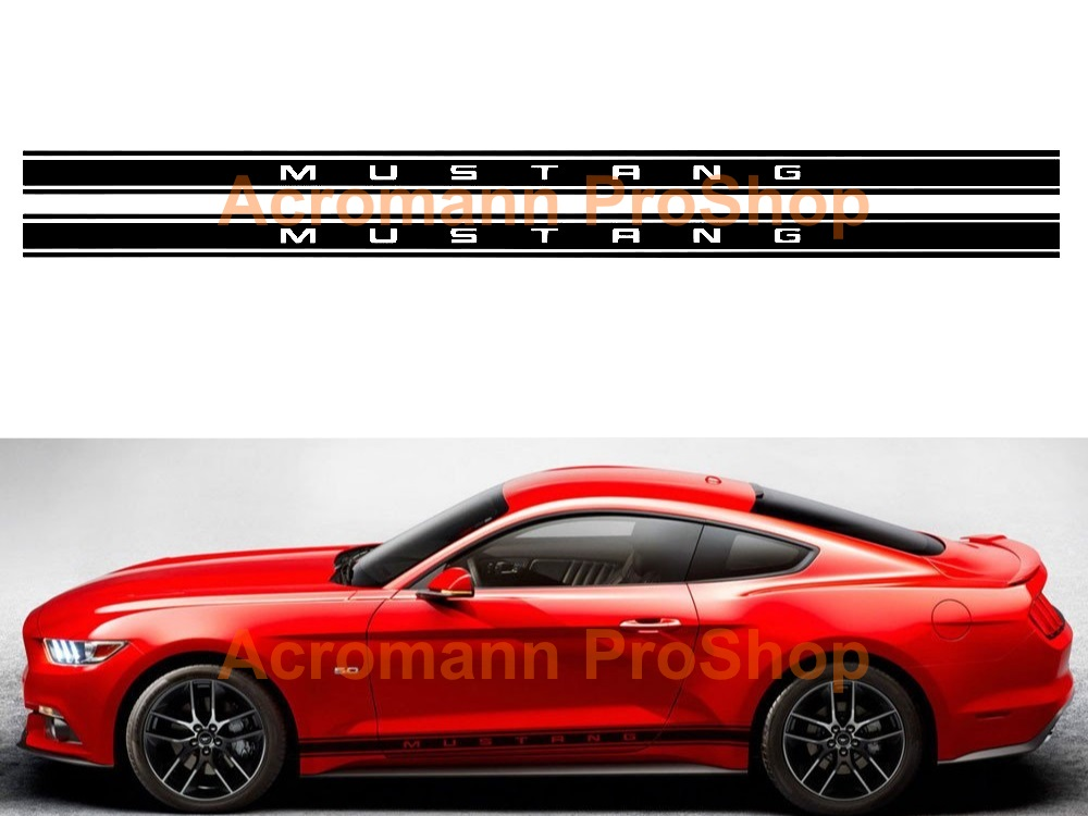 Ford Mustang Shelby Side Stripe Door Decal (Style#16) x 1 pair