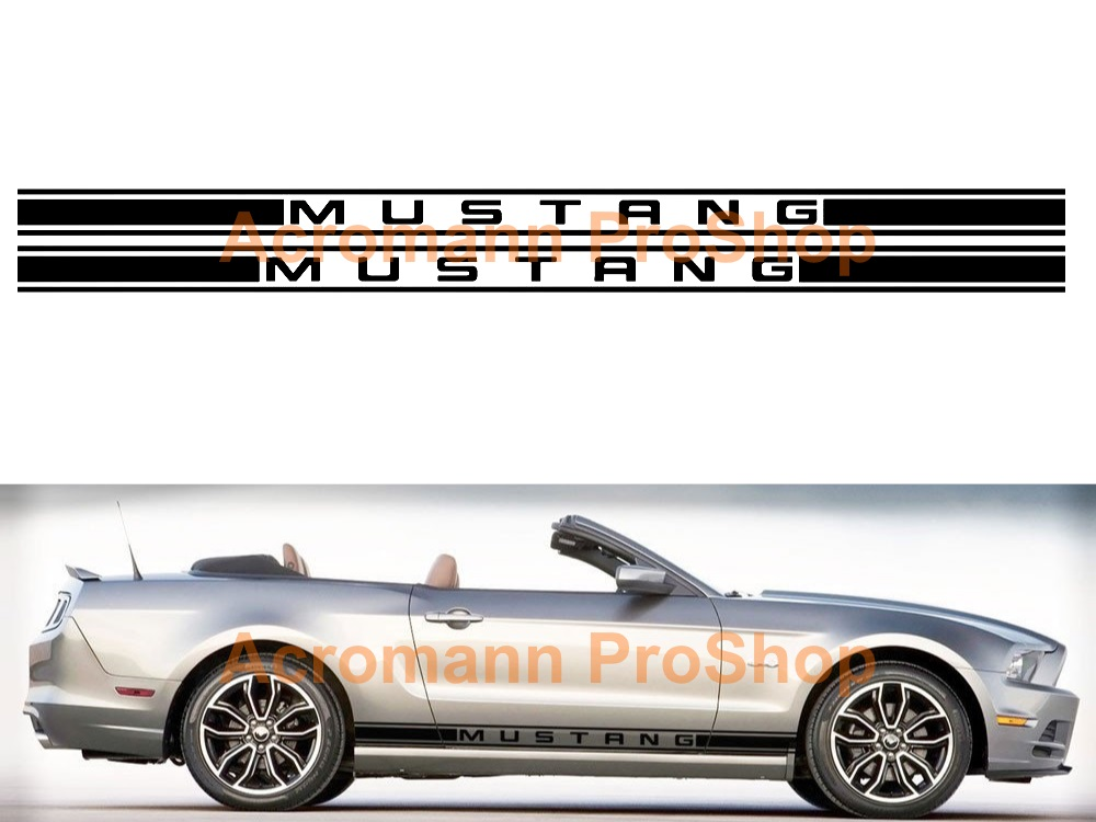 Ford Mustang Shelby Side Stripe Door Decal (Style#2) x 1 pair