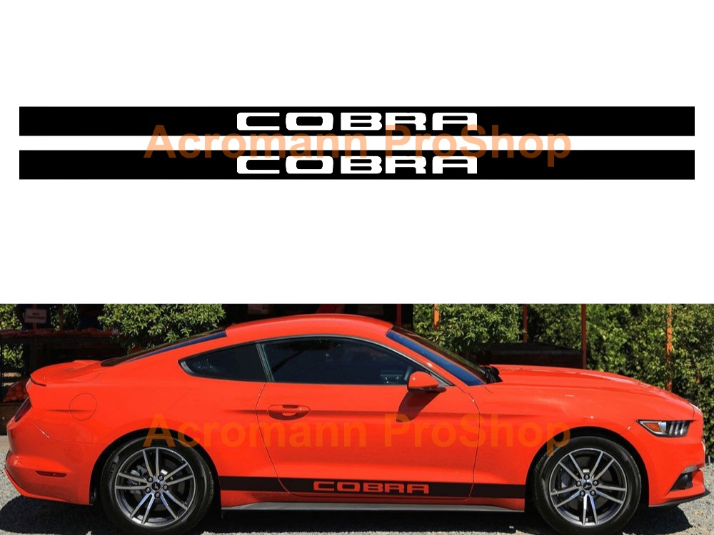 Ford Mustang Cobra Side Stripe Door Decal (Style#3) x 1 pair