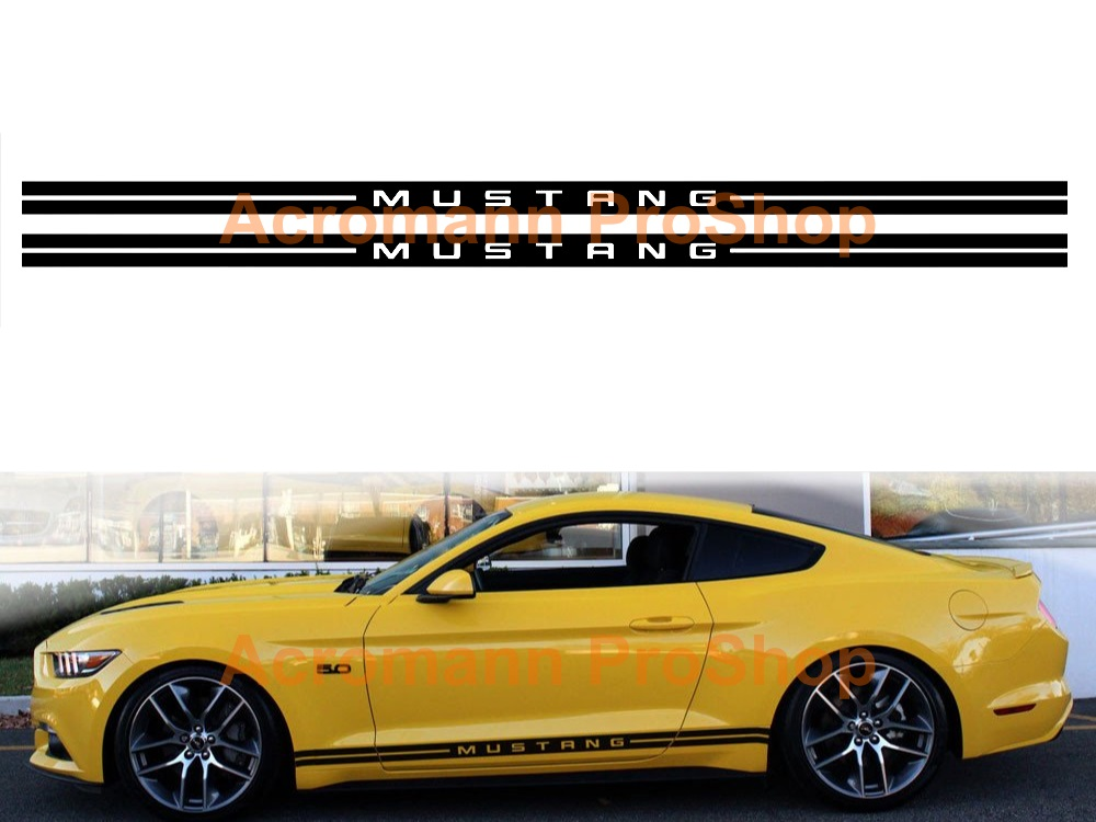 Ford Mustang Shelby Side Stripe Door Decal (Style#4) x 1 pair