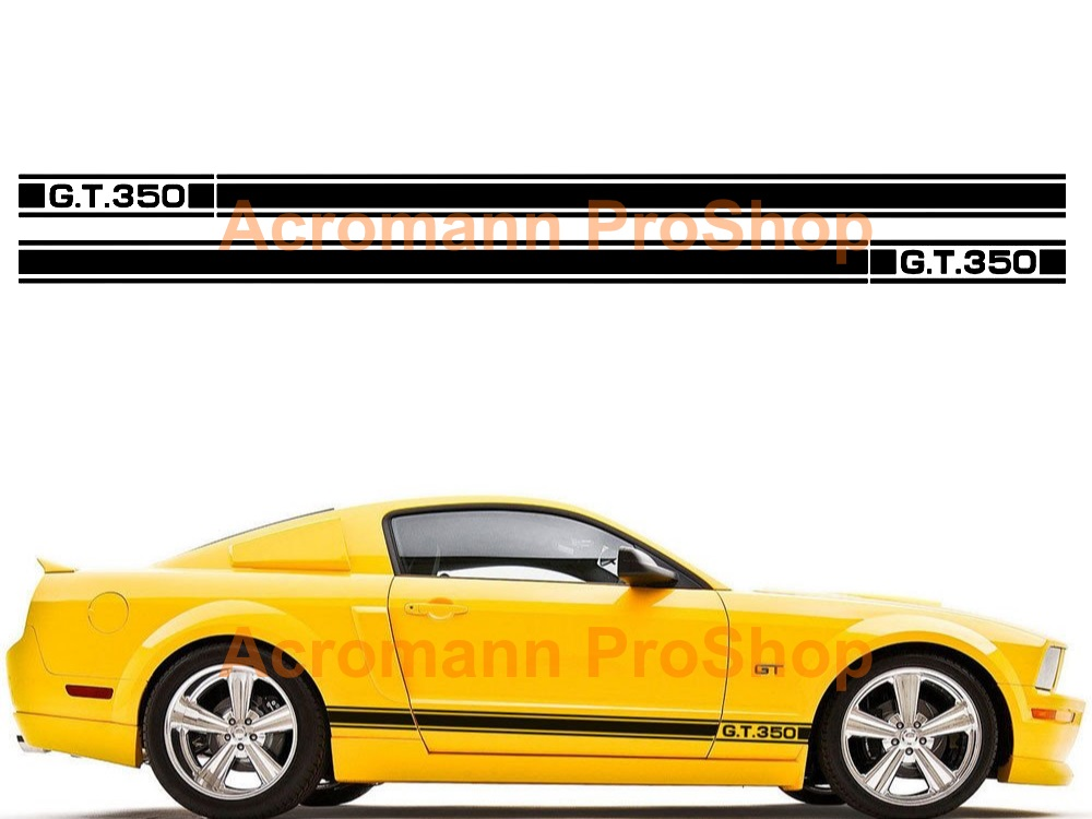 Ford Mustang GT 350 Side Stripe Door Decal (Style#6) x 1 pair