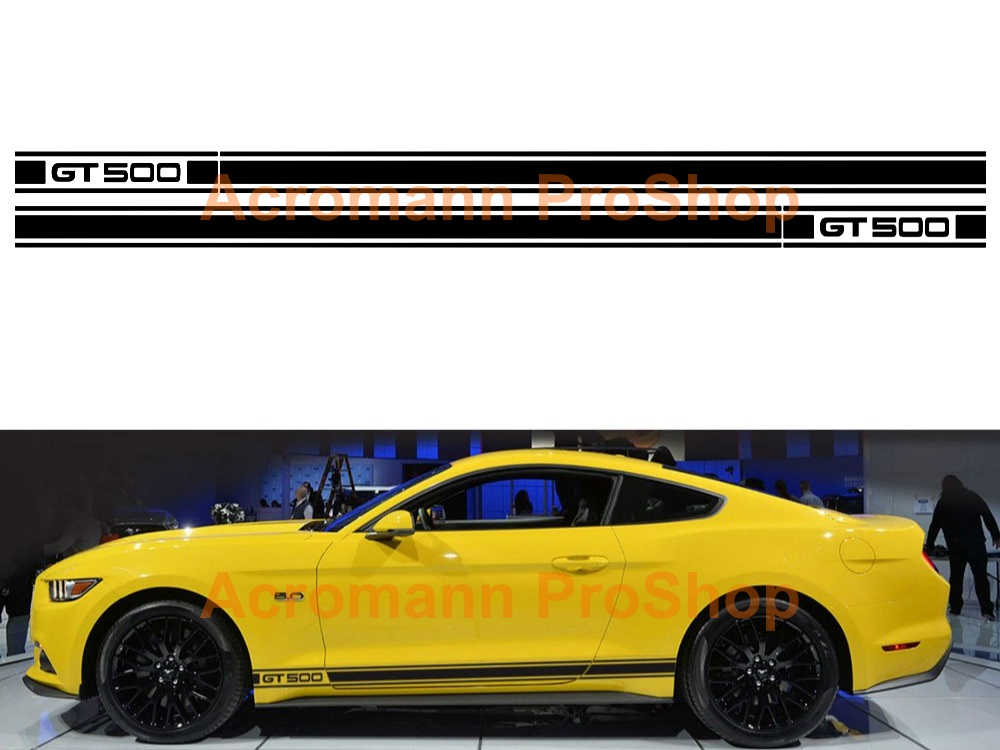 Ford Mustang GT 500 Side Stripe Door Decal (Style#10) x 1 pair