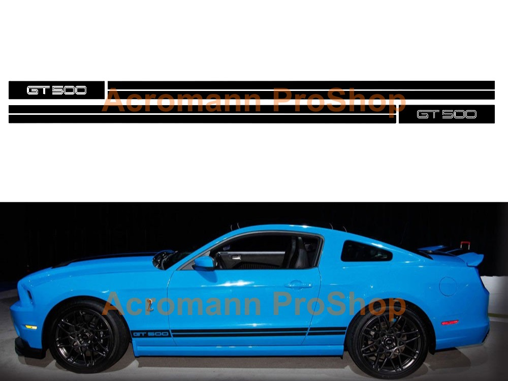 Ford Mustang GT 500 Side Stripe Door Decal (Style#8) x 1 pair