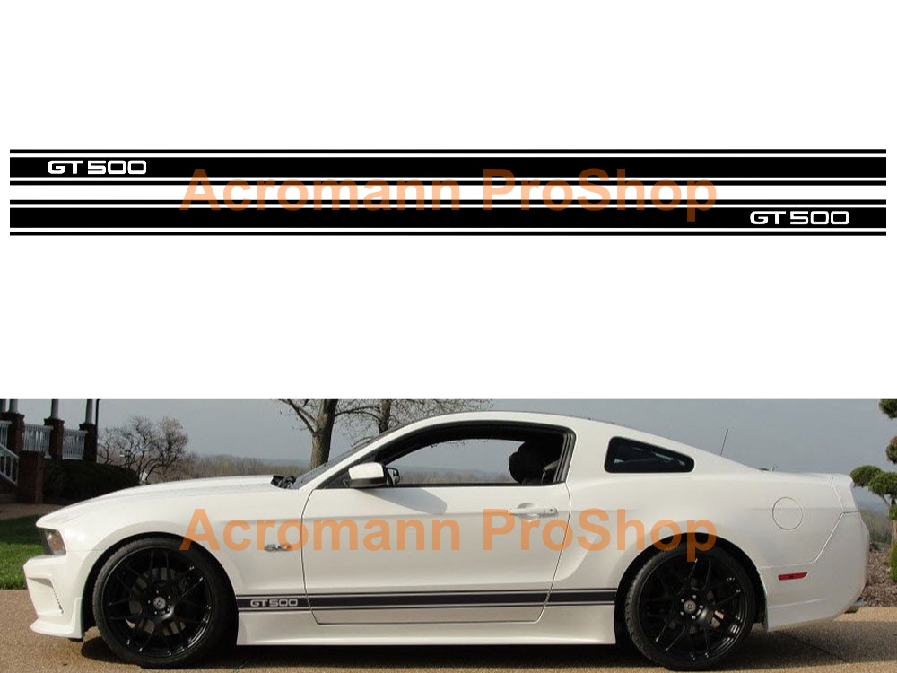 Ford Mustang GT 500 Side Stripe Door Decal (Style#9) x 1 pair