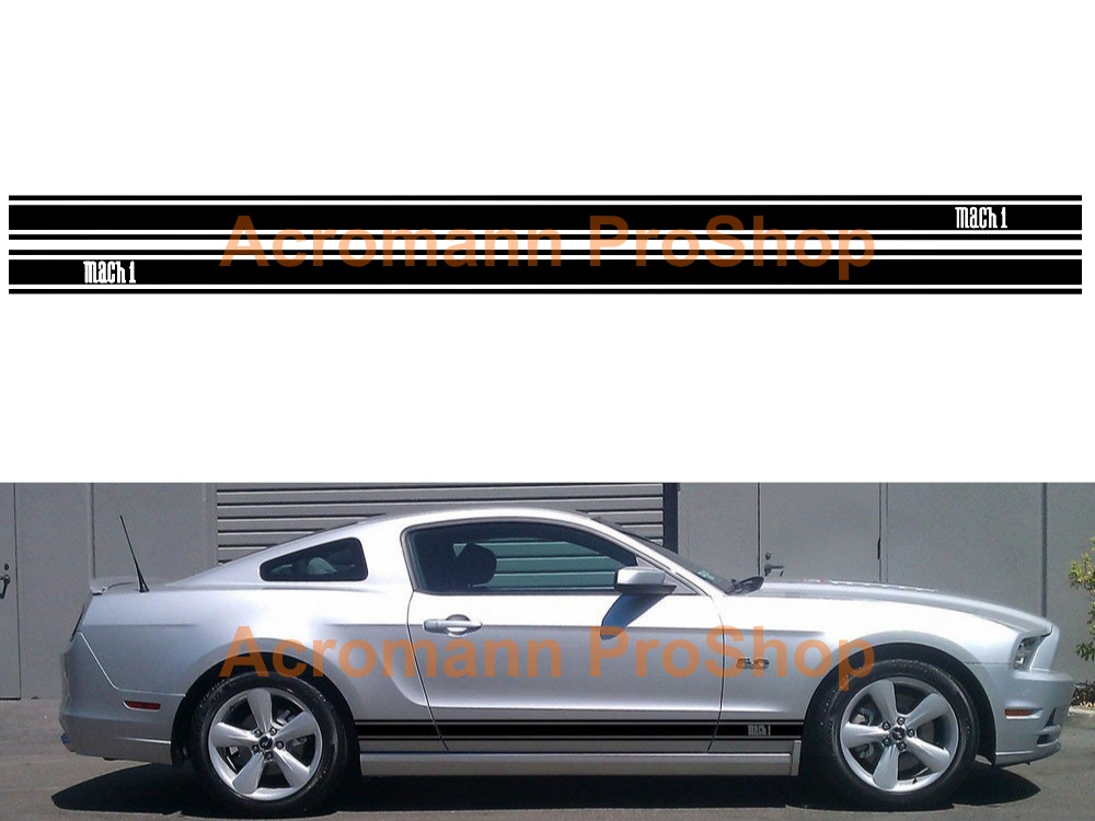 Ford Mustang Mach 1 Side Stripe Door Decal (Style#14) x 1 pair